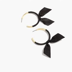J Crew Ribbon Wrapped Hoops